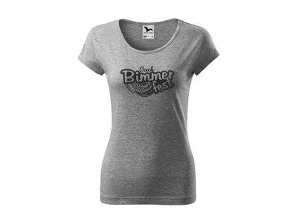 damské tričko šeda