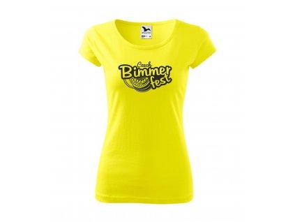 damské tričko žluta