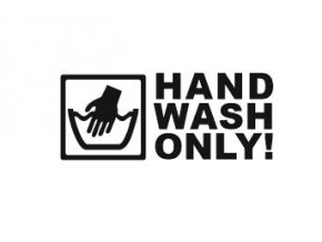 nálepka hand wash only