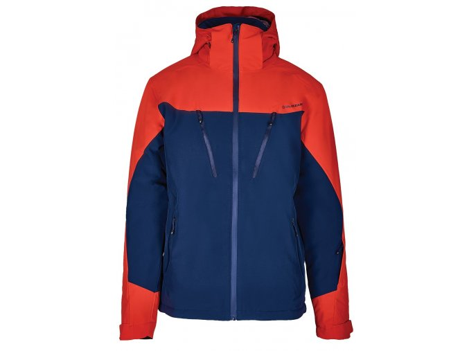 Lyžiarska bunda BLIZZARD Mens Ski Jacket Stelvio, dark blue/red (Veľkosť XXL)