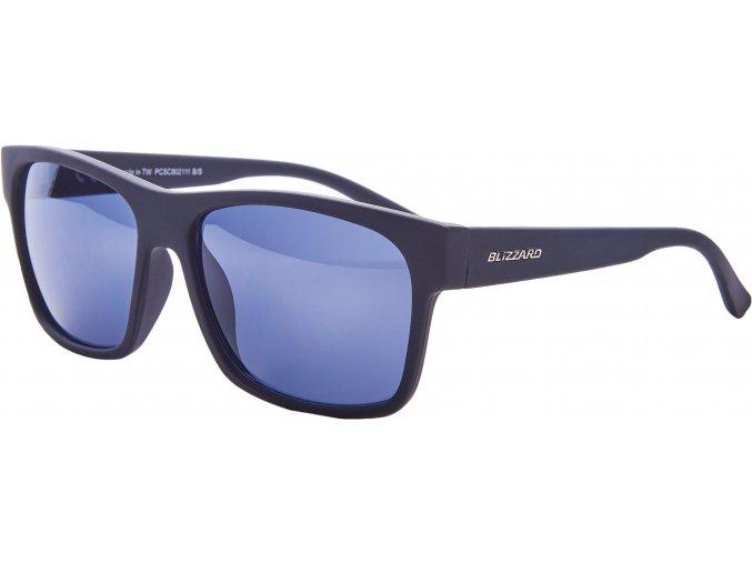 Slnečné okuliare BLIZZARD sun glasses PCSC802111, rubber black, 64-17-143
