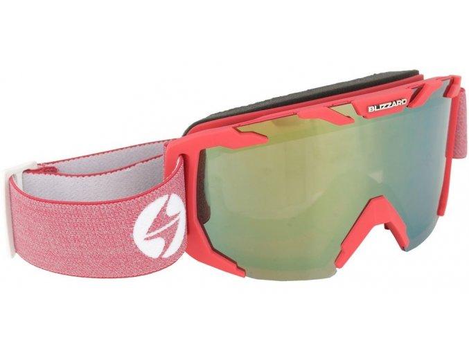 10172 lyzarske bryle blizzard ski gog 925 mdazo raspberry matt smoke2 red mirror