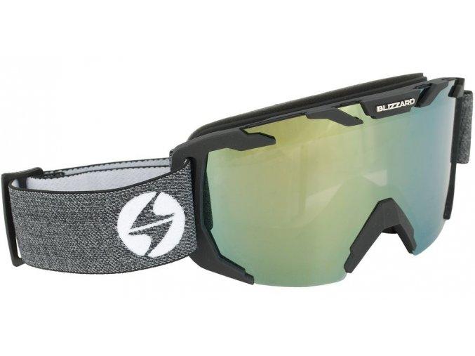 10181 lyzarske bryle blizzard ski gog 925 mdazo black matt amber2 silver mirror
