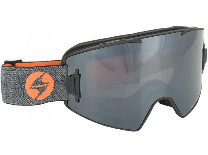 10193 lyzarske bryle blizzard ski gog 927 magnetic box black matt 1x orange 1x smoke silver mirror