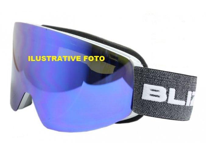 10196 lyzarske bryle blizzard bliz ski gog 932 dazo black smoke2 silver mirror