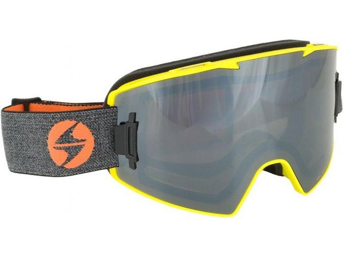 Lyžiarske okuliare BLIZZARD Ski Gog. 927 MAGNETIC + BOX, neon yellow matt, 1x orange + 1x smoke, silver mirror