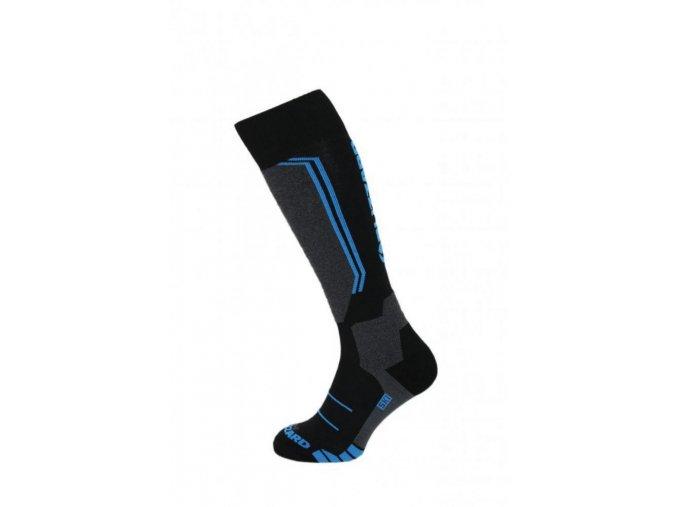 Lyžiarske ponožky BLIZZARD Allround wool ski socks, black/anthracite/blue (Veľkosť 31-34)