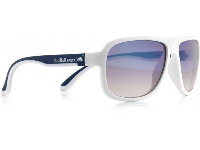 Slnečné okuliare RED BULL SPECT Sun glasses, LOOP-005P, white/blue, white, brown gradient with light blue flash POL, 59-15-145