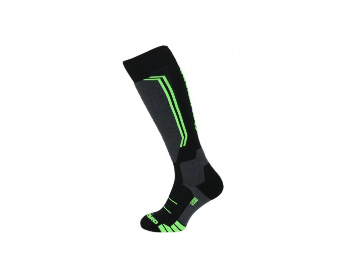 Lyžiarske ponožky BLIZZARD Allround wool ski socks, black/anthracite/green