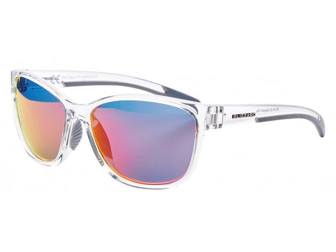 sluneční brýle BLIZZARD sun glasses PCSF702130, clear shiny , 65-16-135