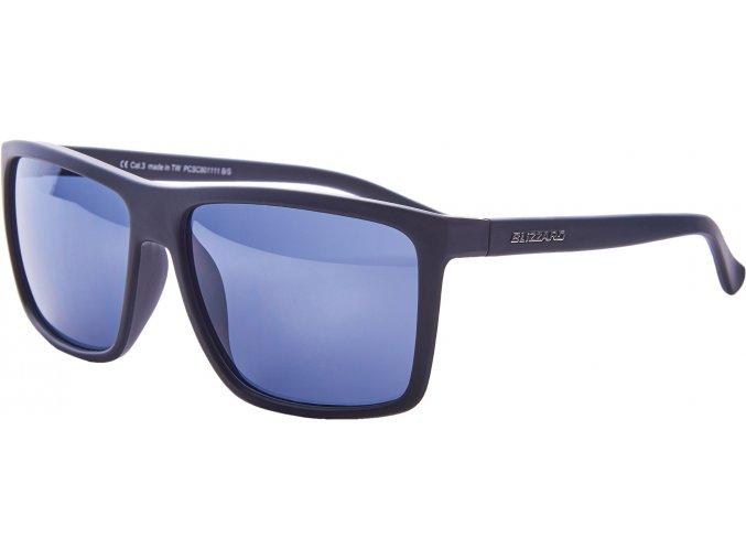 Slnečné okuliare BLIZZARD sun glasses PCSC801111, rubber black, 65-17-140