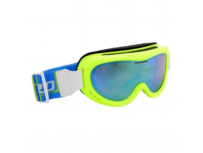 Lyžiarske okuliare BLIZZARD Ski Gog. 907 MDAZO, neon green matt, smoke2, blue mirror