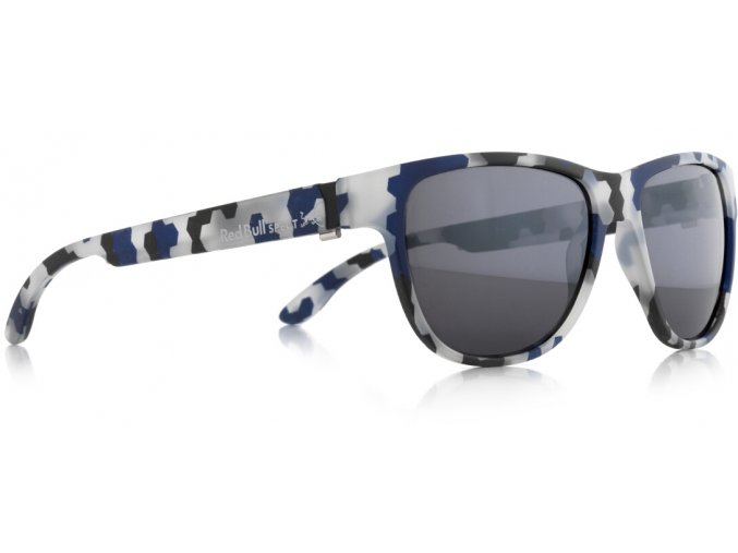 Slnečné okuliare RED BULL SPECT Sun glasses, WING3-005P, camouflage pattern, smoke with silver mirror POL, 53-16-145