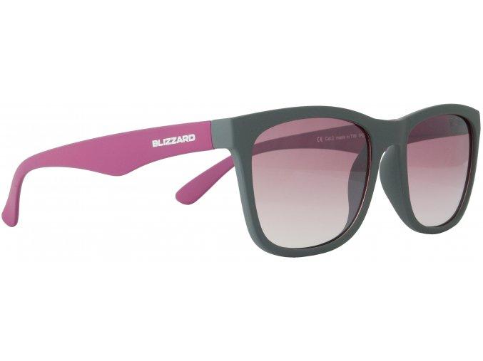 sluneční brýle BLIZZARD sun glasses PC4064004, rubber dark grey, 56-15-133