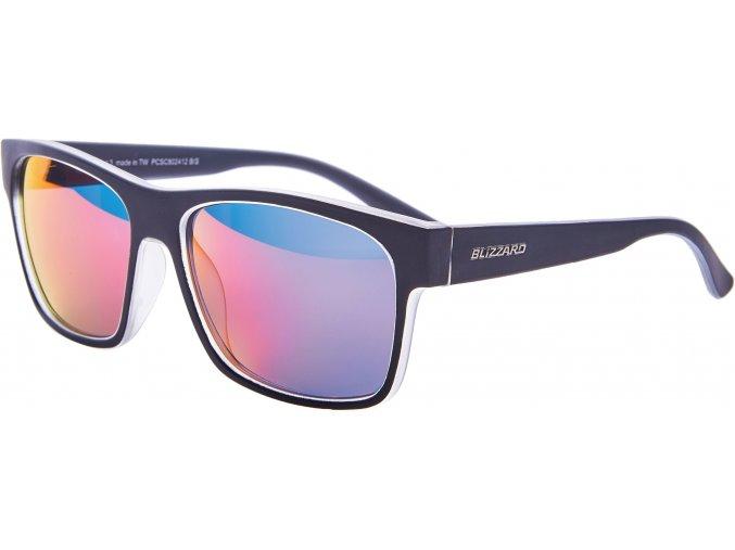 Slnečné okuliare BLIZZARD sun glasses PCSC802412, trans. mat/outside black mat, 64-17-143