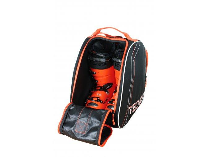 taška na lyžáky TECNICA Skiboot bag Premium, black/orange