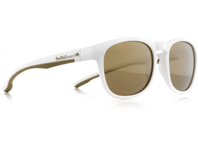Slnečné okuliare RED BULL SPECT Sun glasses, OLLIE-005P, white, brown with gold mirror POL, 53-20-145
