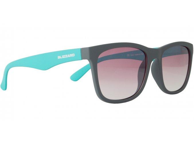 sluneční brýle BLIZZARD sun glasses PC4064005, rubber dark grey, 56-15-133