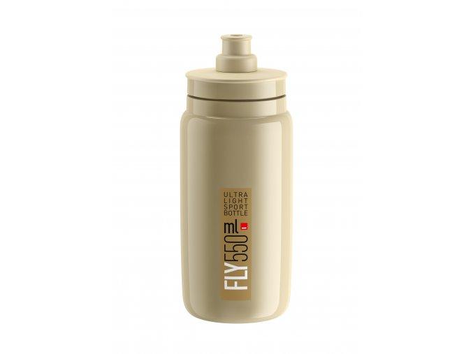 Fľaša FLY bežová hnedé logo 550 ml