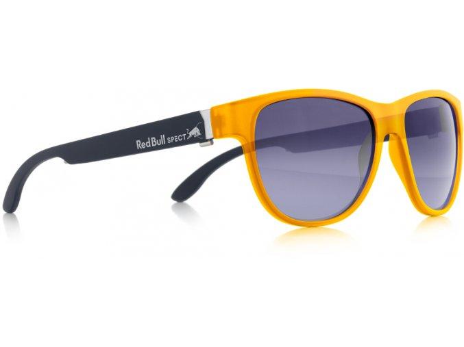 Slnečné okuliare RED BULL SPECT Sun glasses, WING3-003P, yellow, smoke gradient with blue flash POL, 53-16-145