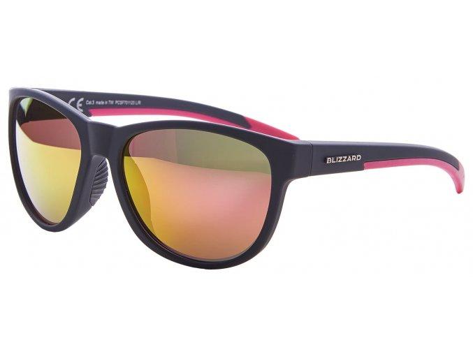 sluneční brýle BLIZZARD sun glasses PCSF701120, rubber dark grey, 64-16-133