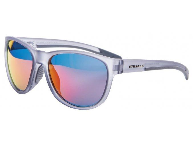 sluneční brýle BLIZZARD sun glasses PCSF701130, rubber transparent smoke grey, 64-16-133