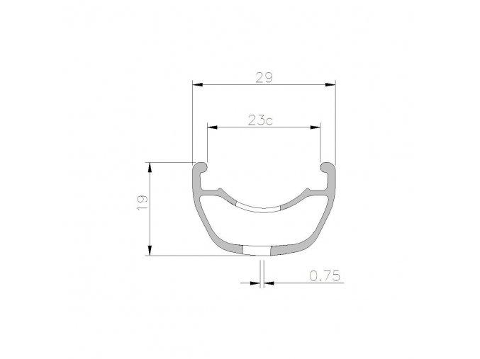 Ráf 5.50 SL 27.5 32D TLR čierny 550g