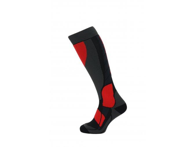 Lyžiarske ponožky BLIZZARD Compress 120 ski socks, black/grey/red
