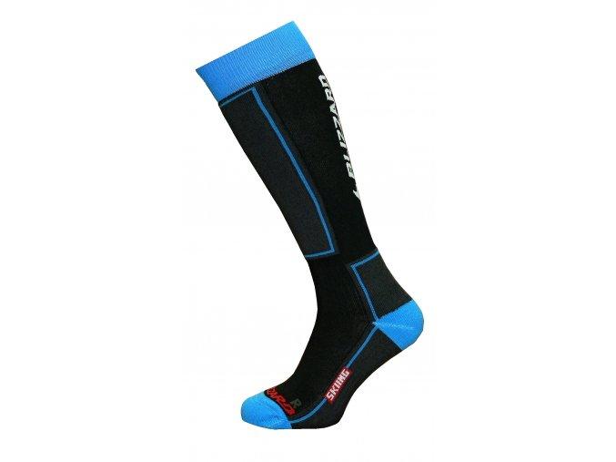 Ponožky BLIZZARD Skiing ski socks junior, black/blue