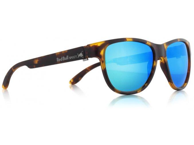 Slnečné okuliare RED BULL SPECT Sun glasses, WING3-006P, brown pattern, green with green revo POL, 53-16-145