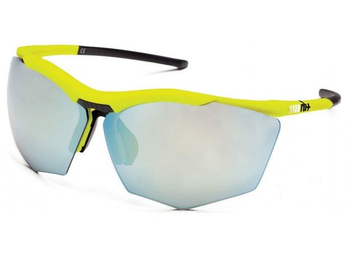 sluneční brýle RH+ Super Stylus, yellow/black, smoke flash silver + orange lens