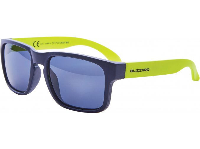 Slnečné okuliare BLIZZARD sun glasses PCC125331, dark blue matt, 55-15-123
