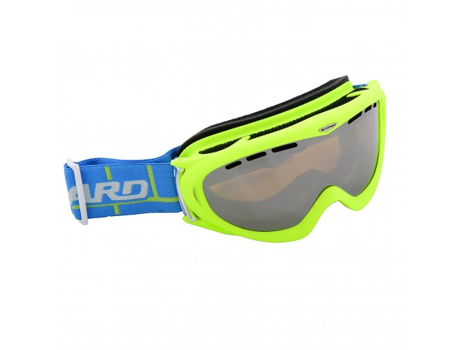 Lyžiarske okuliare BLIZZARD Ski Gog. 905 MDAVZFO, neon green matt, amber2-3, blue mirror, photo