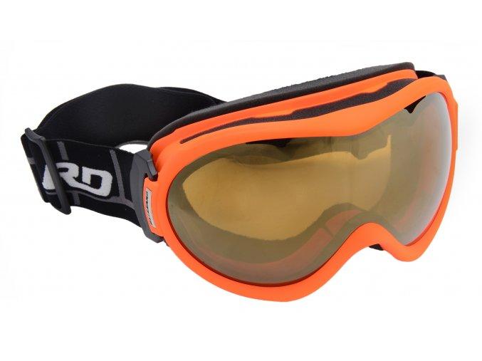 Lyžiarske okuliare BLIZZARD Ski Gog. 919 MDAVZS, neon orange matt, amber2, gold mirror