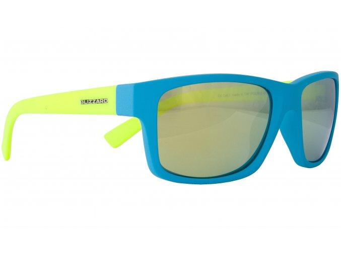 Slnečné okuliare BLIZZARD sun glasses POL602-0041 light blue matt, 67-17-135