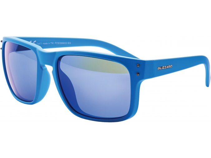 Slnečné okuliare BLIZZARD sun glasses PCSC606003, rubber blue + gun decor points, 65-17-135