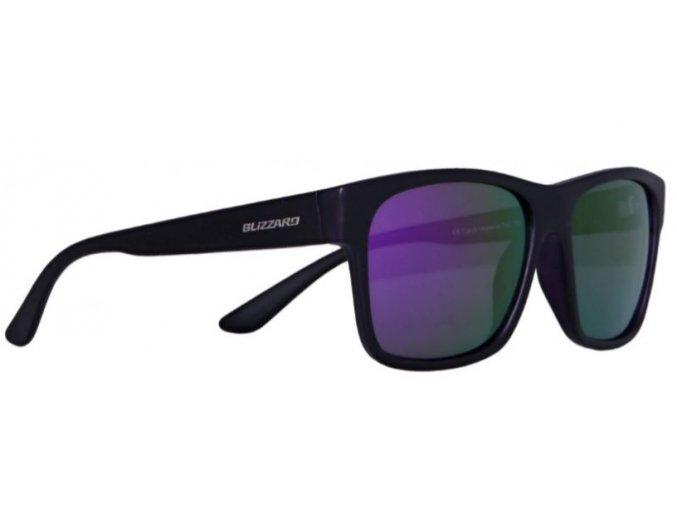 Slnečné okuliare BLIZZARD sun glasses POLSC802111, rubber black, 64-17-134