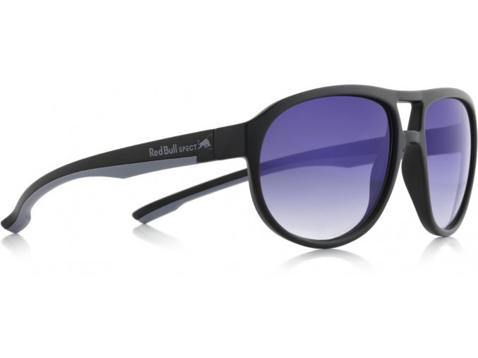 Slnečné okuliare RED BULL SPECT Sun glasses, BAIL-005, matt black, smoke with gradient blue revo, 59-16-140