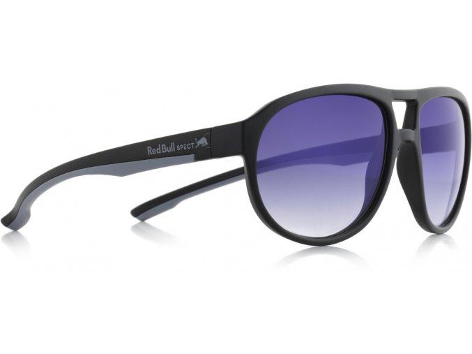 Slnečné okuliare RED BULL SPECT Sun glasses, BAIL-005, matt black, smoke with gradient blue revo, 59-16-140