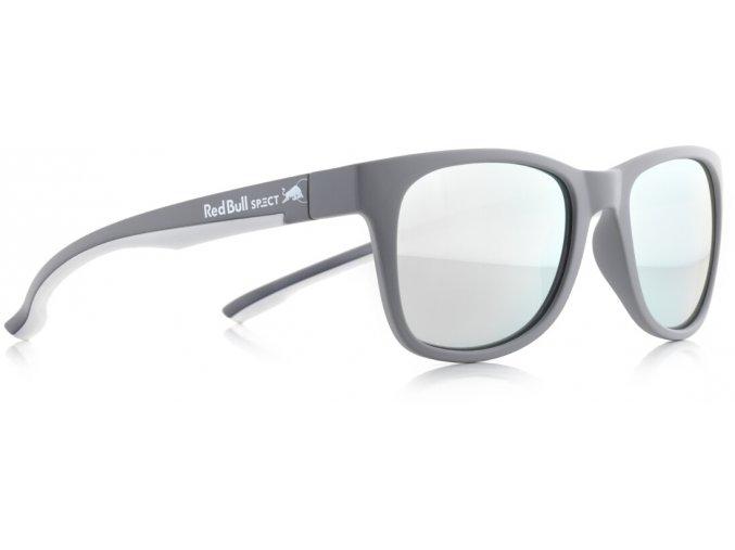 Slnečné okuliare RED BULL SPECT Sun glasses, INDY-010P, grey, white, smoke with strong silver mirror POL, 51-20-145
