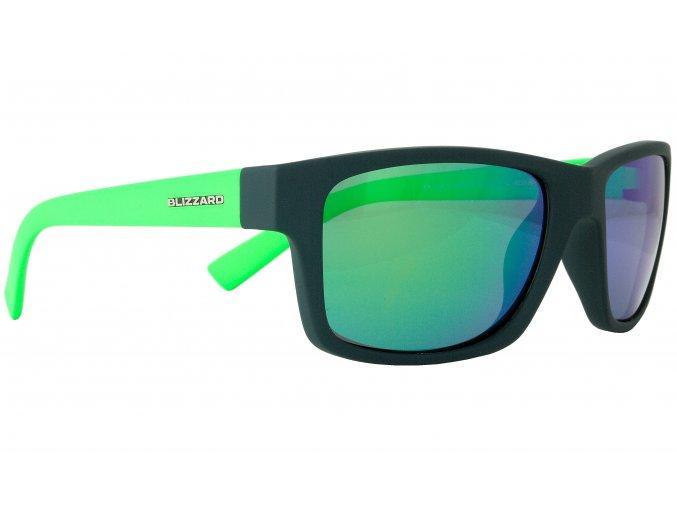 Slnečné okuliare BLIZZARD sun glasses POL602-0031 dark grey matt, 67-17-135