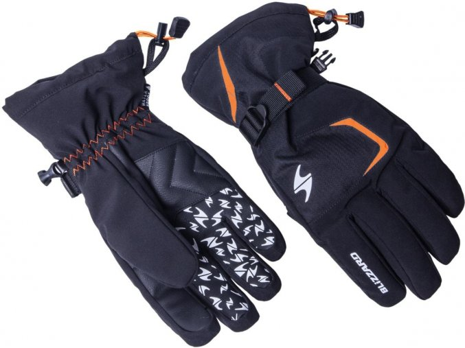 Lyžiarske rukavice BLIZZARD Reflex, black/orange