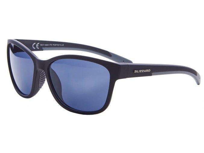 sluneční brýle BLIZZARD sun glasses PCSF702110, rubber black, 65-16-135