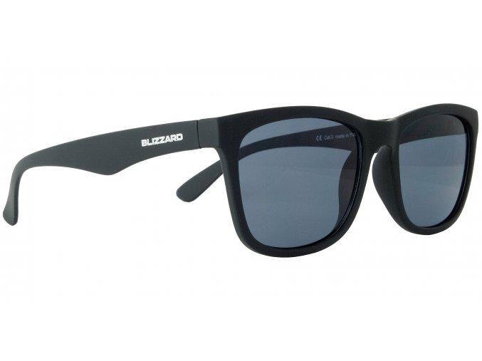 sluneční brýle BLIZZARD sun glasses PC4064001, rubber black, 56-15-133