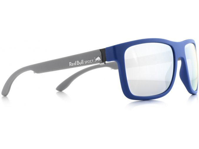 Slnečné okuliare RED BULL SPECT Sun glasses, WING1-003P, light blue, smoke with strong silver mirror POL, 56-17-145