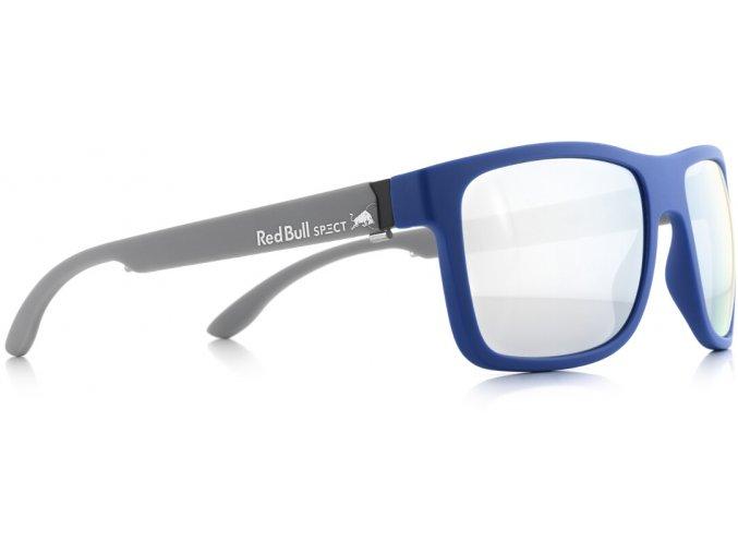 Slnečné okuliare RED BULL SPECT Sun glasses, WING1-003P, light blue, smoke with strong silver mirror POL, 56-17-145