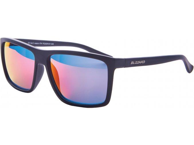 Slnečné okuliare BLIZZARD sun glasses PCSC801011, rubber black, 65-17-140
