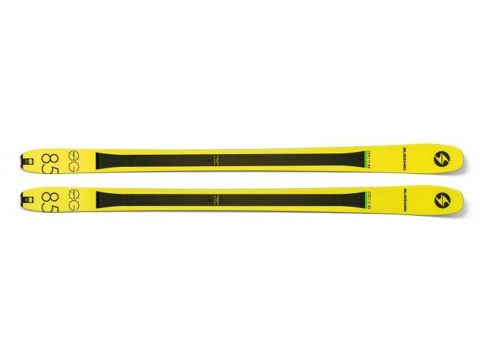 Lyže BLIZZARD Zero G 085, flat, yellow, 18/19