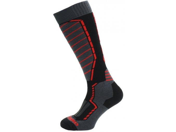 Lyžiarske ponožky BLIZZARD Profi ski socks, black/anthracite/red