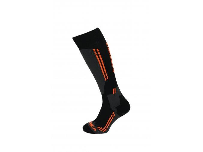Lyžiarske ponožky TECNICA Competition ski socks, black/anthracite/orange